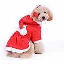 Hunde - Winter - Baumwolle - Weihnachten / Neujahr - Rot - Mäntel / Kapuzenshirts - XS / M / XL / S / L
