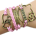 Sweet 7Cm Women'S Pink Fabric Wrap Bracelet(Pink)(1 Pc)