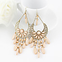 Bohemian Pink Resin Teardrop  Dangle Earrings for Women