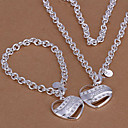Buy European Silver Alloy (Bracelets&Bangles&Necklaces) Jewelry Sets