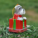 Cute Schnauzer Decorative Ornament Christmas Gift for Pet Lovers