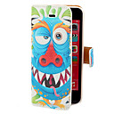 Blue Dragon Pattern PU Case Full Body avec fente pour carte et stand pour iPhone 5C