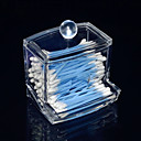 Acrylic Transparent Drawer Shaped Swab Box Cosmetics Storage Drawer Cosmetic Organizer