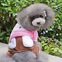 Dog Coats / Pants - XS / S / M / L / XL - Winter - Blue / Pink Cotton / Fleece
