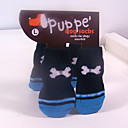 Dog Socks & Boots - S / M / L - Winter - Red / Blue Cotton