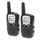 İki Walkie Talkies Siyah İçeren T388 2pcs/pair