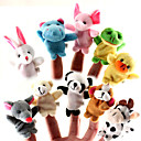 10 Deler Animal Plysj Finger Puppets Set
