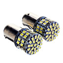 1157 5W 50x3020SMD 350LM 6000K Cool White Light LED pære for bil (12-24V, 2 stk)