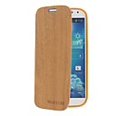 Волокна древесины шаблон Кожа PU и пластика задняя крышка сумки для Samsung Galaxy S4 i9500