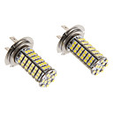 H7 7W 102x3020SMD 570LM 5500-6500K Cool White Light LED lampa för bil (12V)