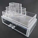 Buy Acrylic Transparent Complex Combined Double Layer Cosmetics Storage Makeup Drawer Cosmetic Organizer