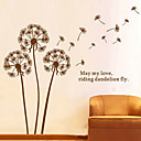 1pcs Brown Dandelion Pola Wall Sticker Dekorasi Dinding