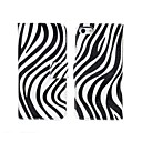 Zebra Pattern PU Leather Flip-open Full Body Wave Point Case with Card Slot for iPhone 5/5S