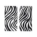 Zebra Motif PU cuir Flip-ouvert Case Point de vague de corps complet avec logement pour carte pour l'iPhone 5/5S
