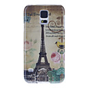 Retro Tower & Flower Pattern tilbake tilfelle for Samsung S5/i9600