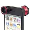 3 in 1 Camera Lens for iPhone 5/5S (Wide Angle lens/Macro lens/180 Fish Eye)(Assorted Color)