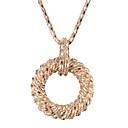Collar Anillo elegante de la aleación de oro de las mujeres pendientes