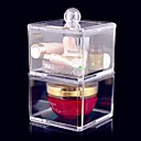 Buy Acrylic Transparent Complex Combined Double Layer Cosmetics Storage Box Cosmetic Organizer