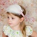 Lindo Flores Feather Diademas para el cabrito (color al azar) (1PC)
