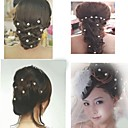 White Pearl Rhinestone Hair Fork U-shaped Hairpin Headdress Hair Accessories