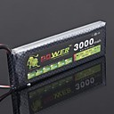 LEÃO 7.4V 3000mAh 2S 25C Bateria Li-Po (T Plug)