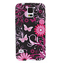 Rose Red Butterfly Pattern TPU Soft Protective Back Case Cover for Samsung Galaxy S5 I9600