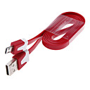 100cm Length Noodle Shape USB 2.0 Charging and Sync Data Cable for Samsung and Other Brand Cell Phones