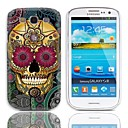 Petal Skull Design Hard Case with 3-Pack Screen Protectors for Samsung Galaxy S3 I9300