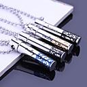 Personalizzato regalo dei monili della cavità dell'acciaio inossidabile inciso Collana Ciondolo con 60 centimetri catena