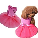 Dog Dresses - XS / S / M / L - Summer - Pink - Wedding - Mixed Material / Cotton