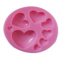 3D Small och Big Heart Shaped Silicone Mold