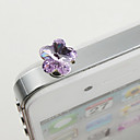 Alloy Zircon Plum Blossom Pattern Anti-dust Plug(Random Colors)