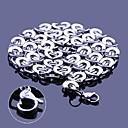 Osobní dárek Silver Pánské nerezové oceli šperky Ryté Chain Necklace 1,1 cm Šířka