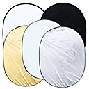 5 i 1 Photography Studio Multi Photo Sammenklappelig Light Reflector Oval 90 x 120cm