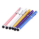 2-in-one Clip on Ballpoint Designed Metal Touch Stylus Pen for iPad and Others (Assorted Colors)