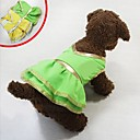 Dog Dresses - S / M / L / XL - Summer - Green / Yellow Cotton