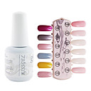 yemannvyou®1pcs uv lentejuelas esmalte de uñas de gel de color no.109-120 remojo-off (15 ml, colores surtidos)