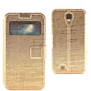Skylight Grid Pattern PU Leather Full Body Case with Card Slot for Samsung Galaxy S4 I9500