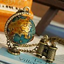 Collana del pendente del telescopio Global Travel Globe catena del maglione