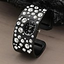 Kvinner Round Dial Rhinestone Crystal Dinner Party Quartz Analog Alloy Bracelet Watch (assorterte farger)
