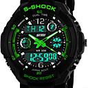 vigilanza di sport della vigilanza doppio fuso orario del calendario zone cronografo degli uomini