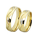 Fashion Lovers Stainless Steel 18K gullbelagt Par Rings (2 stk)