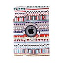 Kinston 360 Degree Rotatable Color Lace Pattern PU Leather Full Body Case with Stand for iPad Air