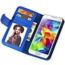 S5 Mode Plånbok Style PU Fodral till Samsung Galaxy S5 I9600 Phone Bag med stativ fuction