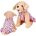 Dog Dresses - XS / S / M / L / XL - Summer - Pink Cotton