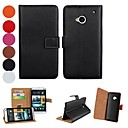 Solid Color Pattern PU Leather Full Body Case with Stand and Card Slot for HTC One M7 (Assorted Colors)