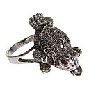 Vintage Lucky Frog Shape Silver Statement Ring(1 Pc)
