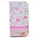 Missing Flower Pattern PU Leather Cover Case with Stand for Samsung Galaxy Win I8552