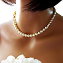 Buy Necklace Strands Necklaces / Pearl Jewelry Wedding Party Daily Casual Fashion Imitation White 1pc Gift