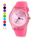 Women's Watch Simple Style Candy Color Silicone Band